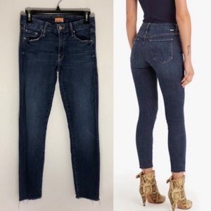 MOTHER Looker Ankle fray skinny jeans size 26